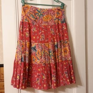 Pink cotton peasant skirt